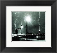 Framed Lightning storm over Boston - 1967