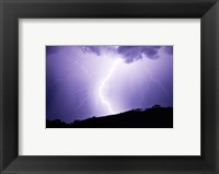 Lightning Strike 2007 Framed Print