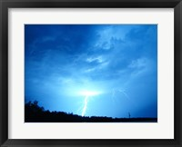 Lightning Over Edson Framed Print