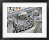 Library of congress architecture detail child reading Framed Print