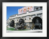 Framed Library of Congress Court of Neptune Fountain Washington DC