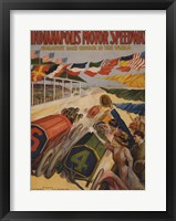 Framed Indianapolis Motor Speedway