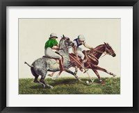 Polo - two horses Framed Print