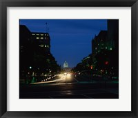 Traffic on a road, Washington, D.C., USA Framed Print