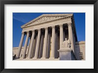 Framed Facade of the U.S. Supreme Court, Washington, D.C., USA Closeup