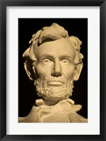 Close-up of the Lincoln Memorial in Washington, D.C. Framed Print