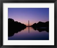 Framed Silhouette of the Washington Monument, Washington, D.C., USA