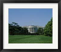 Framed Lawn at the White House, Washington, D.C., USA