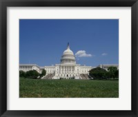 Facade of the Capitol Building, Washington, D.C. Framed Print