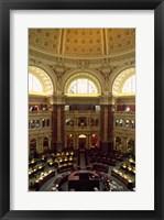 Framed Main Reading Room Library of Congress Washington, D.C. USA