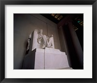 Framed Lincoln Memorial Washington, D.C. USA Statue
