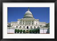 Framed Low angle view of a government building, Capitol Building, Washington DC, USA