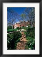 Framed Trees in a garden, Dumbarton Oaks House, Georgetown, Washington DC, USA