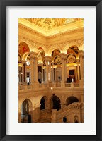 Framed USA, Washington DC, Library of Congress interior