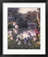 Framed Summer Garden Triptych