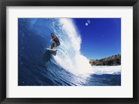Surfing - Action shot Framed Print
