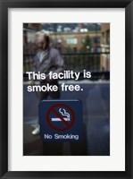 Framed No Smoking - smoke free