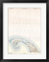 Framed 1900 U.S. Geological Survey Map of Provincetown, Cape Cod, Massachusetts 1900