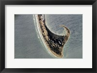 Framed Provincetown Cape Cod photographed from space