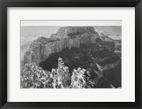 Close-in view of curved cliff, Grand Canyon National Park, Arizona Framed Print