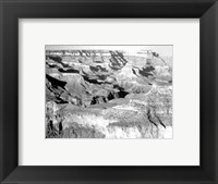 Grand Canyon National Park canyon with ravine winding Framed Print