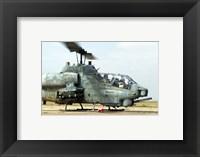 Framed AH-1A Cobra