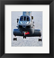 Framed Marine CH-46E helicopter