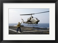 AH-1T Sea Cobra helicopter Framed Print