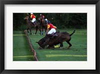 Framed Polo - red and yellow