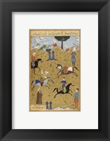 Framed Polo game from poem Guy Chawgan