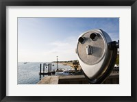Framed Close-up of coin-operated binoculars, Cape Cod, Massachusetts, USA