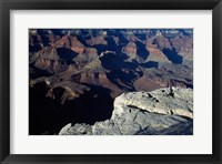 Wide Angle View of the Grand Canyon National Park Framed Print