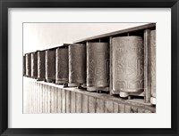 Tibetan Prayer Wheels Framed Print