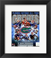 Framed University of Florida Gators All Time Greats Composite
