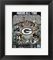 Framed Green Bay Packers All Time Greats Composite