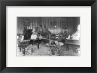 Edison's phonograph, Experimental Dept., Orange, N.J. Framed Print