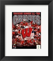 Framed University of Wisconsin Badgers All Time Greats Composite