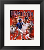 Framed Josh Hamilton 2011 Portrait Plus