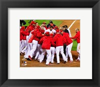Framed St. Louis Cardinals Celebrate Winning Game 6 of the 2011 MLB World Series (#32)