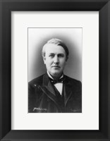 Framed Thomas Edison Portrait