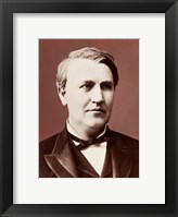 Framed Thomas Edison c1882