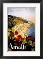 Framed Amalfi, travel poster