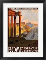 Framed Rome par la voie du Mont-Cenis, travel poster 1920