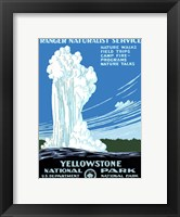 Framed Yellowstone National Park poster 1938