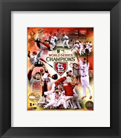 Framed St. Louis Cardinals 2011 World Series Champions PF Gold Composite
