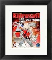 Framed Miikka Kiprusoff Calgary Flames All-Time Wins Leader Composite
