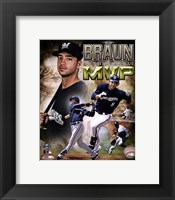 Framed Ryan Braun 2011 NL MVP Portrait Plus
