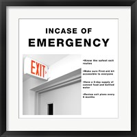 Framed In Case Of Emergency