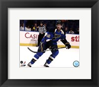 Framed David Backes 2011-12 Action