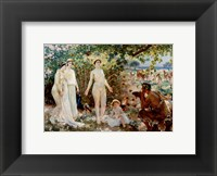 Framed Judgment of Paris he goddesses Athena, Hera and Aphrodite